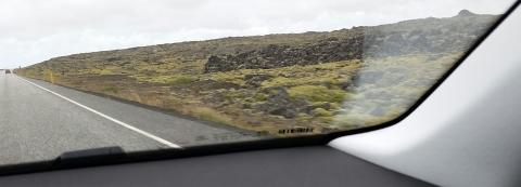 Iceland volcanic rock landscape