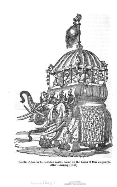 kublai khan on elephants